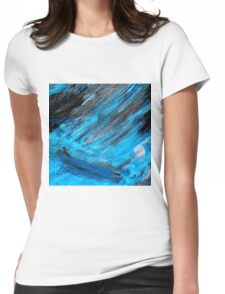 stormy sea Womens Fitted T-Shirt
