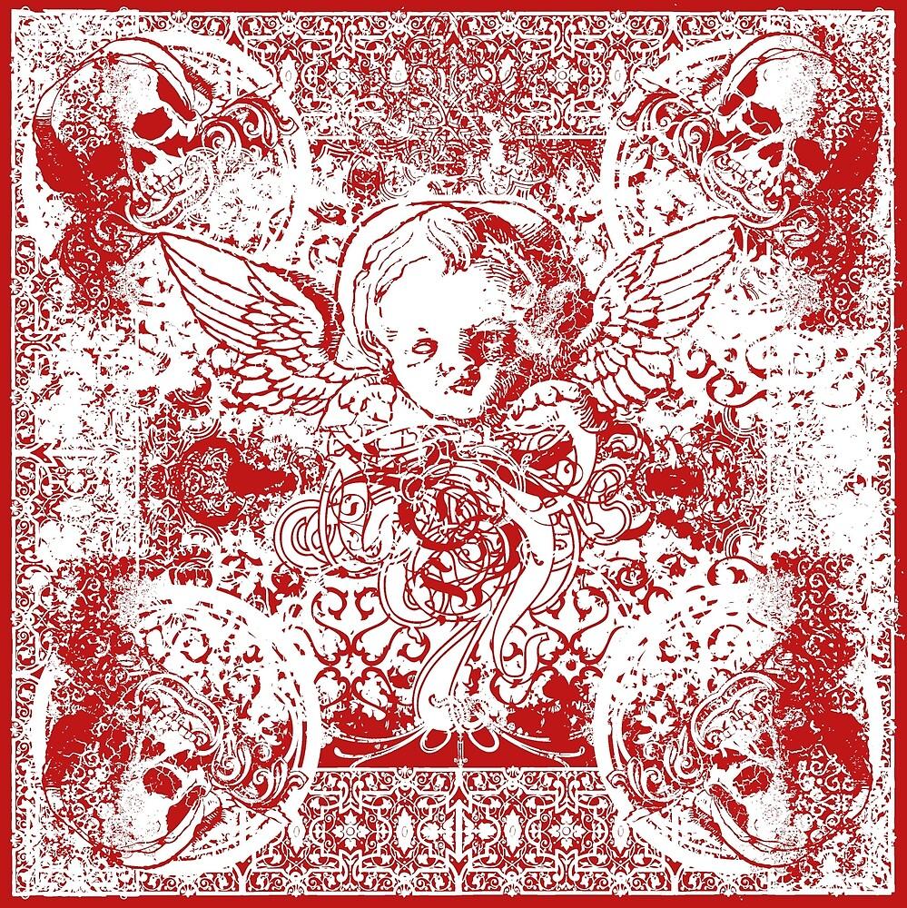 Angel & Skulls Putto and Bones by SE70