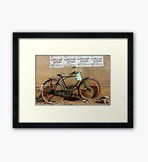 Cruiser bike Framed Print