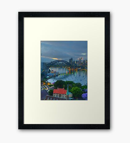 Blessing - Moods Of A City - The HDR Experience Framed Print