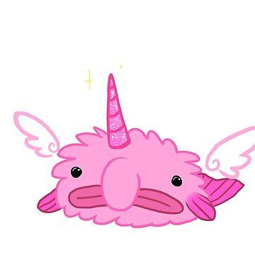 Fluffy Unicorn Blobfish by flowe