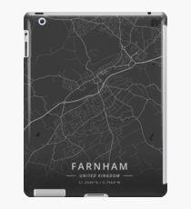 Farnham, United Kingdom Dark Map iPad Case/Skin