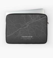 Farnham, United Kingdom Dark Map Laptop Sleeve