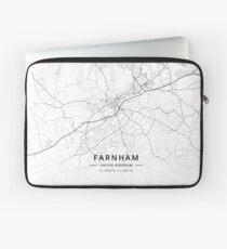 Farnham, United Kingdom Light Map Laptop Sleeve