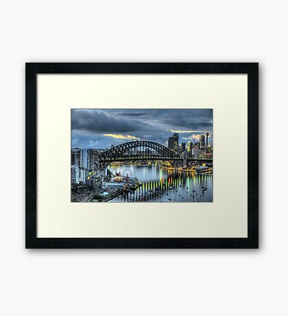 Somewhere - Moods Of A City - The HDR Experience Framed Print
