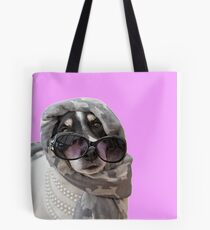 Fun Jack Russell Terrier Dog Headscarf Shades and Beads Tote Bag