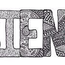 SCIENCE - intricate alphabet by Hana Ayoob