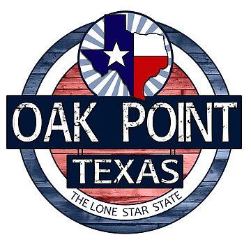 Oak Point Texas rustic wood circle by artisticattitud