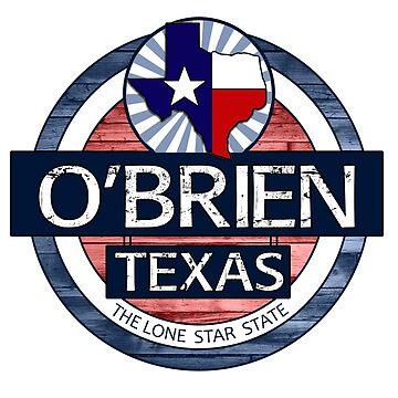 O'Brien Texas rustic wood circle by artisticattitud