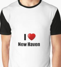 New Haven I Love City Lover Pride Funny Gift Idea Graphic T-Shirt