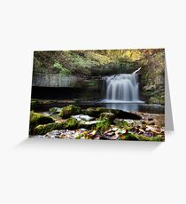 Cauldron Falls - West Burton Greeting Card