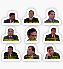 Michael Scott Quotes from The Office Sticker