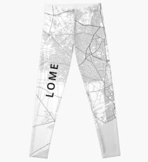 Lome, Togo Light Map Leggings