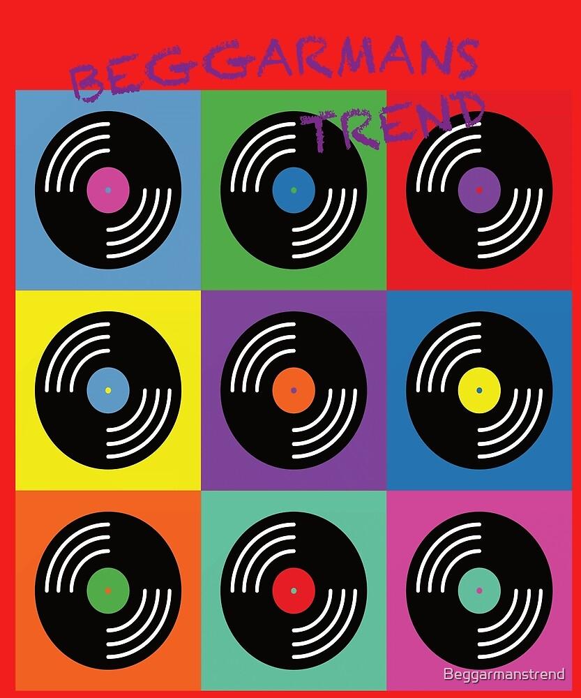 Vinyl music pop art  by Beggarmanstrend