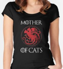 Camiseta entallada de cuello redondo Madre de Gatos