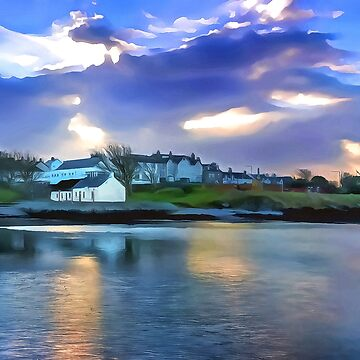 Cockle Row Cottages, Ireland. (Painting) by cmphotographs