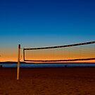Vollyball Nets at Night by socalgirl