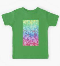 Fantasy Garden Rainbow Doodle Kids Tee