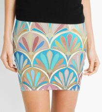 Vintage Twenties Art Deco Pastel Pattern Mini Skirt