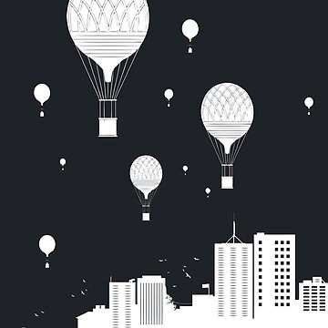 Balloons and city II by soltib