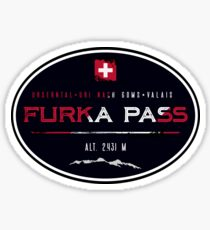 Furka Pass Switzerland 02 T-Shirt + Sticker Sticker