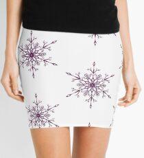 Purple Snowflake Mini Skirt