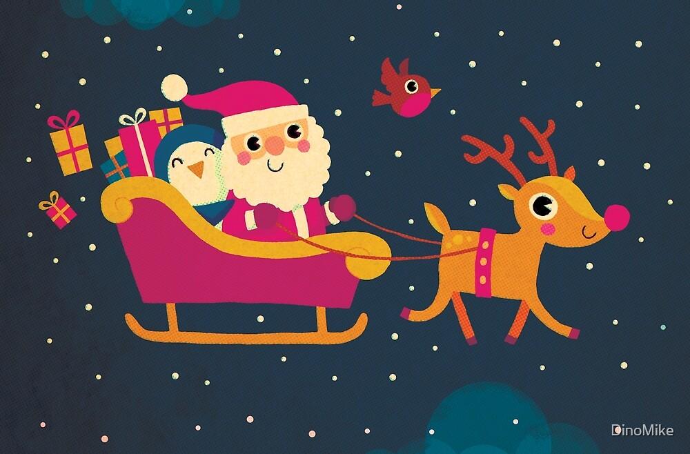Retro Santa by DinoMike
