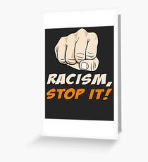Tarjeta de felicitación Detener el racismo - ¡Racismo, basta!