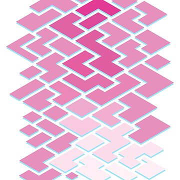 Geometric Pink Tiles by Fangpunk
