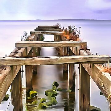 Derrytrasna Jetty, Ireland. (Painting) by cmphotographs