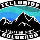 Telluride Colorado Skiing Mountains Ski Snowboarding by MyHandmadeSigns