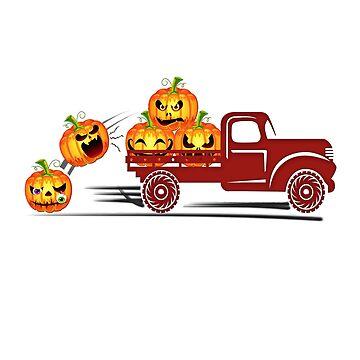 Funny Pumpkin Shirt Pickup Truck Fall Design - Halloween Party Gift Idea by MrTStyle