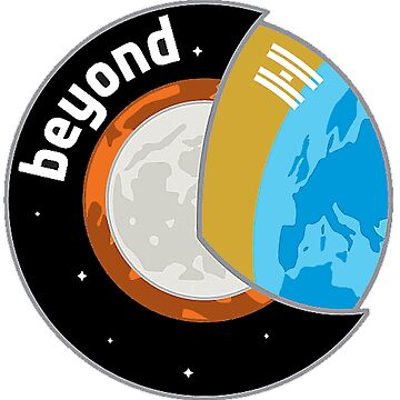 ISS 60/61 Luca Parmitano Beyond Mission Logo by Spacestuffplus