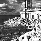 Rutland water church IR version by SWEEPER