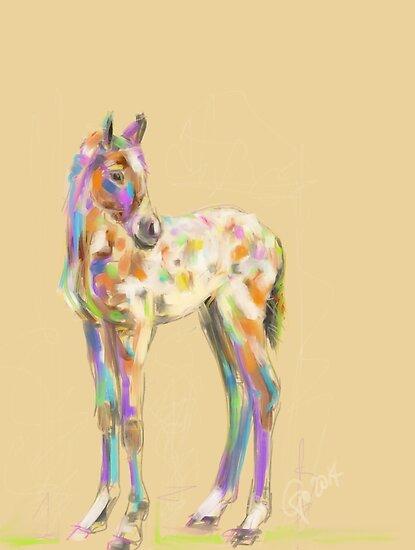 Foal paint by Go van Kampen