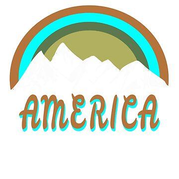Retro America mountains design by jhussar