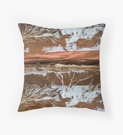 The wood draws trees - Reflecting the Nature it was Floor Pillow