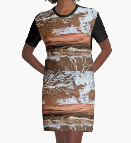 The wood draws trees - Reflecting the Nature it was Graphic T-Shirt Dress