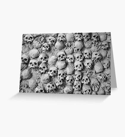 Skull Wall Greeting Card