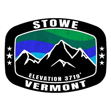 STOWE VERMONT Ski Mountain Skiing Snowboarding Winter Sports by MyHandmadeSigns