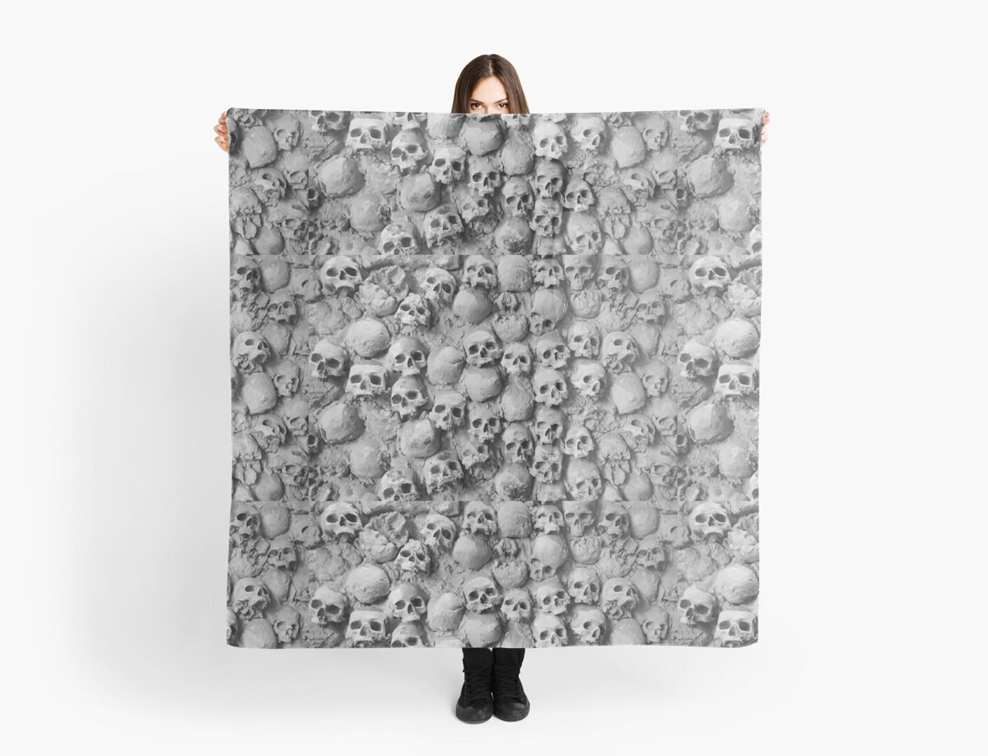 Skull Wall by Tracy Riddell
