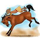 Tutankhamun's Bucking Horse by Leenasart