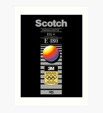 Retro VHS tape vaporwave aesthetic alternate version Art Print