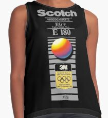 Retro VHS tape vaporwave aesthetic alternate version Sleeveless Top