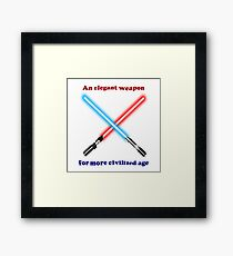 Lightsaber Civilized Framed Print