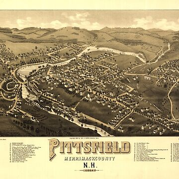 Aerial View of Pittsfield, New Hampshire (1884) by allhistory