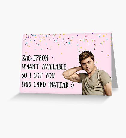 Tarjeta Zac Efron, tarjeta de cumpleaños, tarjeta de aniversario, tarjeta de felicitaciones, tarjetas de felicitación meme, día de San Valentín, día de Galentines Tarjeta de felicitación