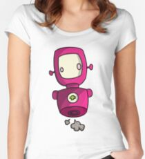ROBOT PINK Women's Fitted Scoop T-Shirt