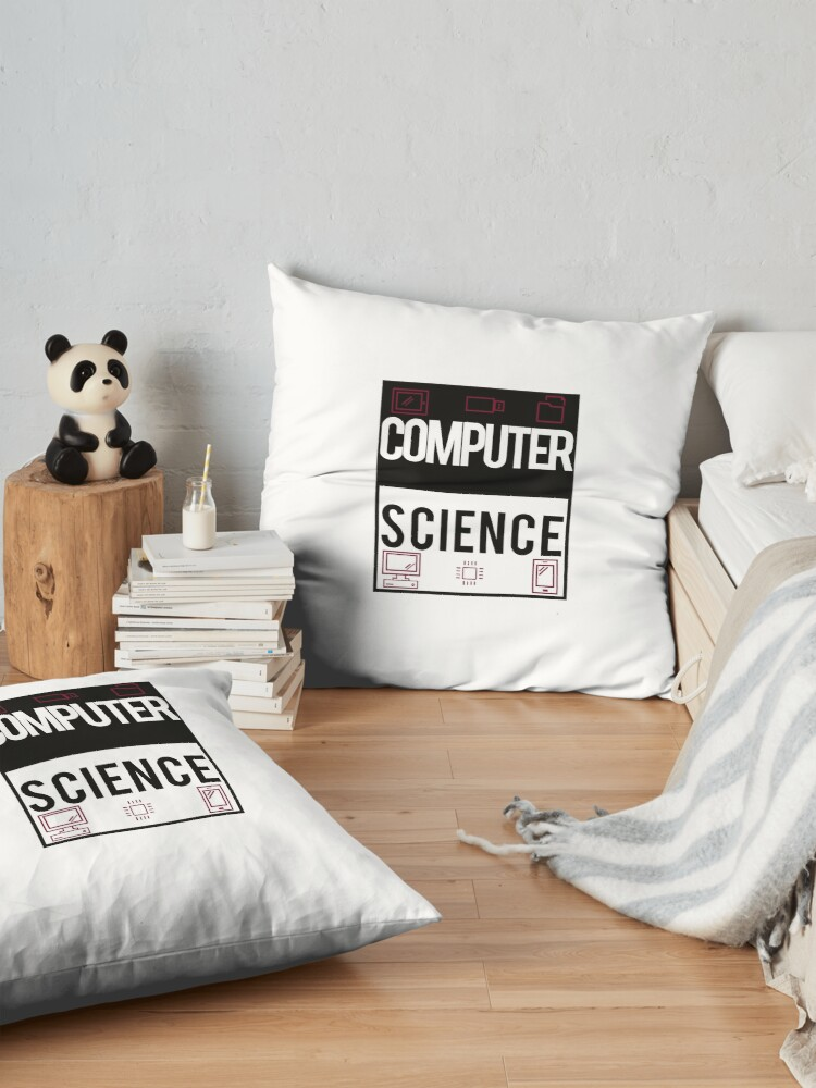 Alternate view of computer science Floor Pillow