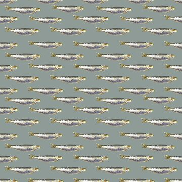 Anchovies Group Print Pattern by DFLCreative